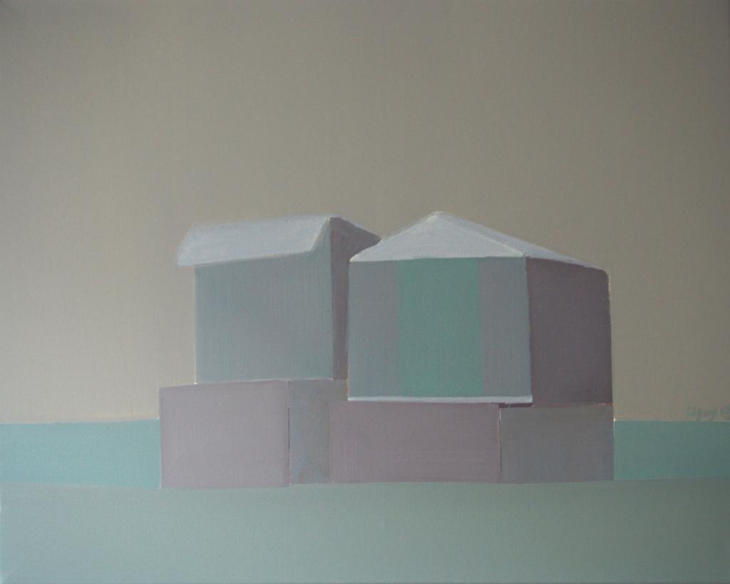 Calais n°12, huile sur toile, 65x81 cm, 2013.