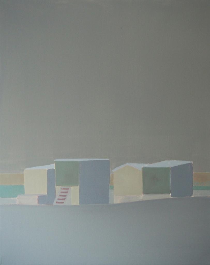 Calais n°13, huile sur toile, 92x73 cm, 2013.